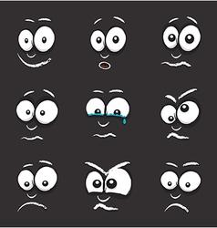 Cartoon black egg face vector