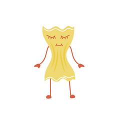 cartoon farfalle pasta vector image