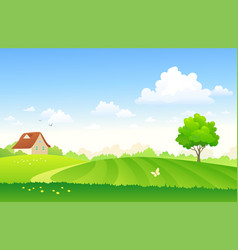 Cartoon farm field vector