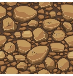 Cartoon stone texture in brown colors seamless vector image