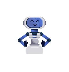 Chatbot character friendly robot vector