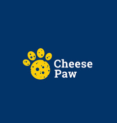 cheese paw abstract sign emblem or logo vector image