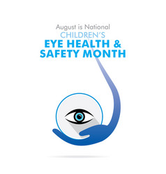 children eye health and safety month vector image