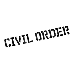 Civil Order rubber stamp vector image