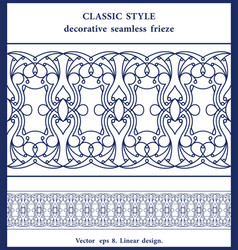 Classic thin line seamless edging design linear vector