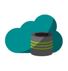 cloud information save vector image