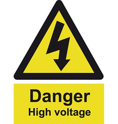 Danger High Voltage Safety Sign vector image