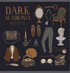Dark academia concept vector
