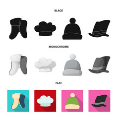design of headwear and cap icon collection vector image