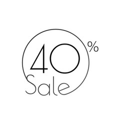 discount offer price linear sticker or label vector image