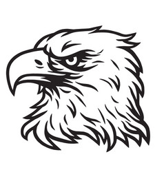 eagle head mascot drawing vector image