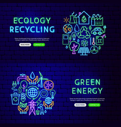 ecology recycling banners vector image