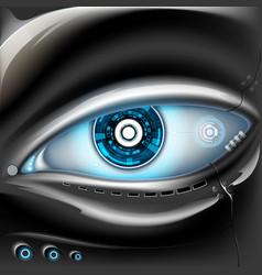 eye of metal robot vector image