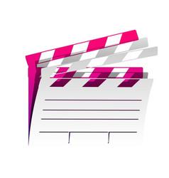 film clap board cinema sign detachable vector image