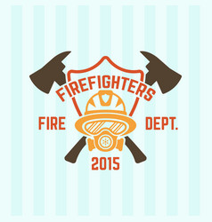 Fire department label emblem vector