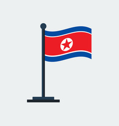 flag of north-koreaflag stand vector image