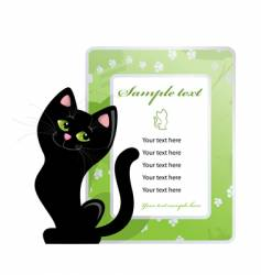Frame and black cat vector