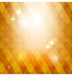Golden triangle background with stars vector