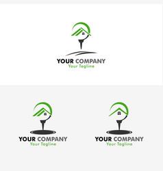 golf house logo vector image