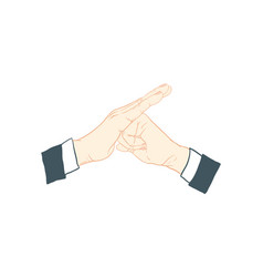 hand action vector image