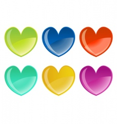 hearts icon set vector image