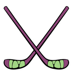 Hockey sticks icon icon cartoon vector
