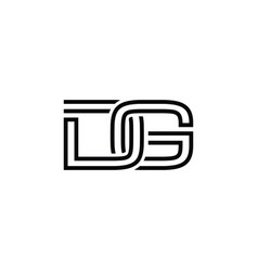 initial letter g d logo template with chain vector image
