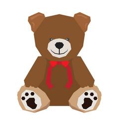 Isolated geometric teddy bear vector