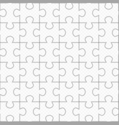 Jigsaw puzzle seamless pattern vector