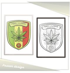 medica marijuana poster five vector image