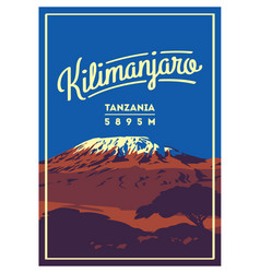 Mount kilimanjaro in africa tanzania outdoor vector