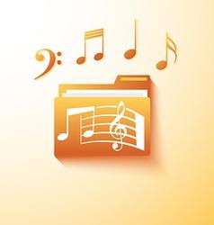 musical notes folder vector image