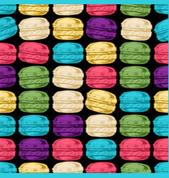 pattern with macarons vector image