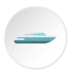 Planing powerboat icon flat style vector