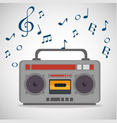radio musical festival label vector image