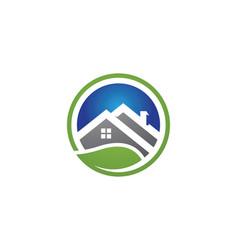 Real estate property and construction logo design vector