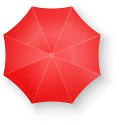 Red Umbrella Isolated on white vector image