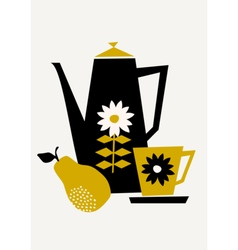 Retro Coffee Set vector