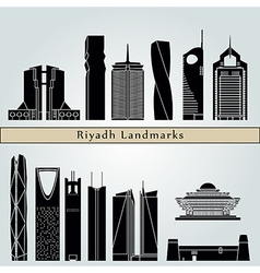 Riyadh V2 landmarks and monuments vector image