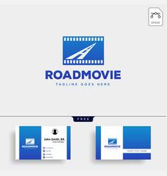 road movie or cinema negative logo template icon vector image