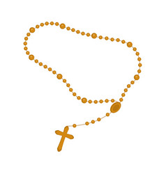 Rosary beads icon vector