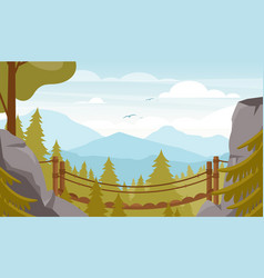 scenic valley flat beautiful vector image