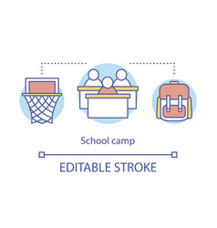 School camp concept icon summer educational kids vector