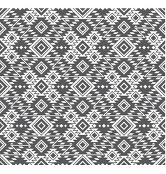 seamless geometric tribal ethnic pattern vector image