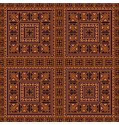 Seamless pattern background in orange and black vector image
