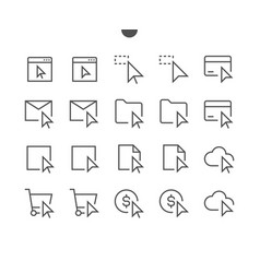 Selection cursors ui pixel perfect well-crafted vector