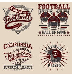 set tee shirt print designs vector image