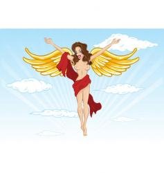 Sexy angel illustration vector