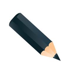 short small pencil icon realistic style white vector image