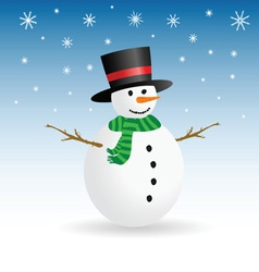 snowman winter color vector image